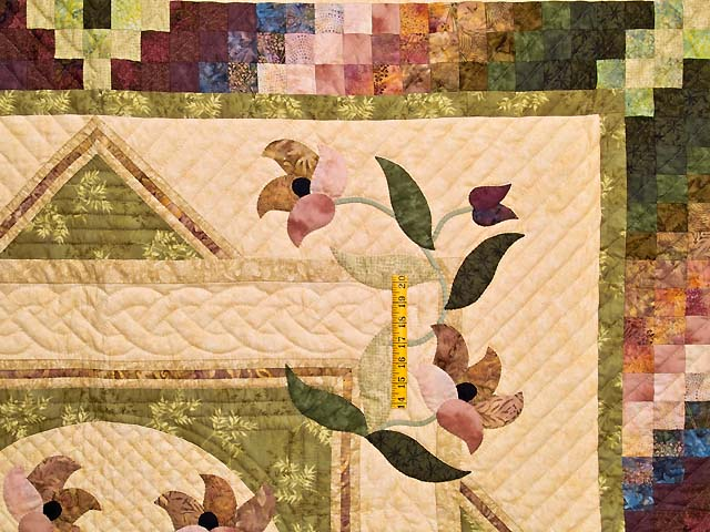 Moss Neutrals and Mauve Rainbow Reflections Quilt Photo 4