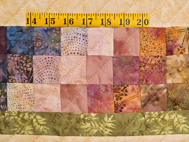 Moss Neutrals and Mauve Rainbow Reflections Quilt Photo 6