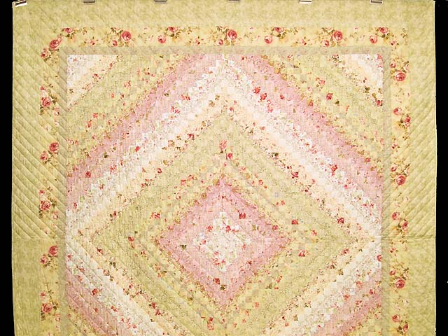 Pastel Pink and Willow Color Splash Quilt Photo 2