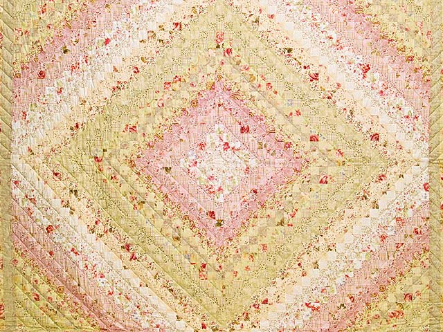 Pastel Pink and Willow Color Splash Quilt Photo 3