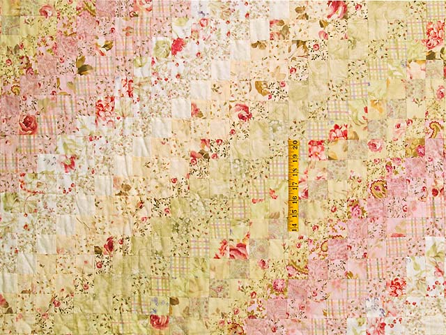 Pastel Pink and Willow Color Splash Quilt Photo 4