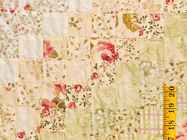 Pastel Pink and Willow Color Splash Quilt Photo 5