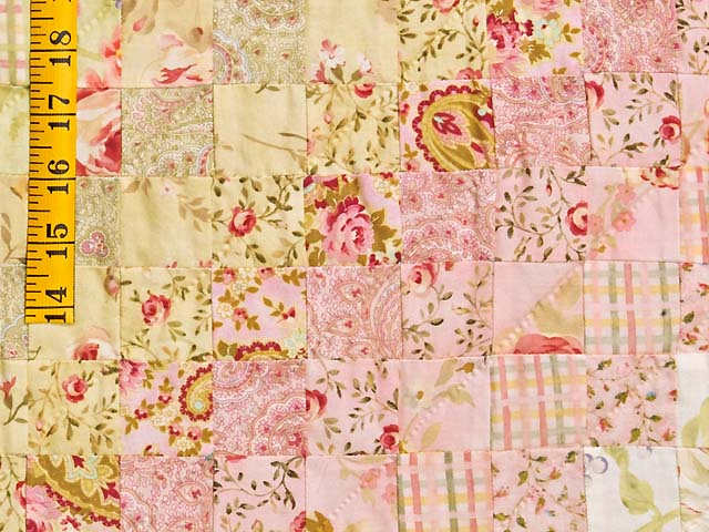 Pastel Pink and Willow Color Splash Quilt Photo 6