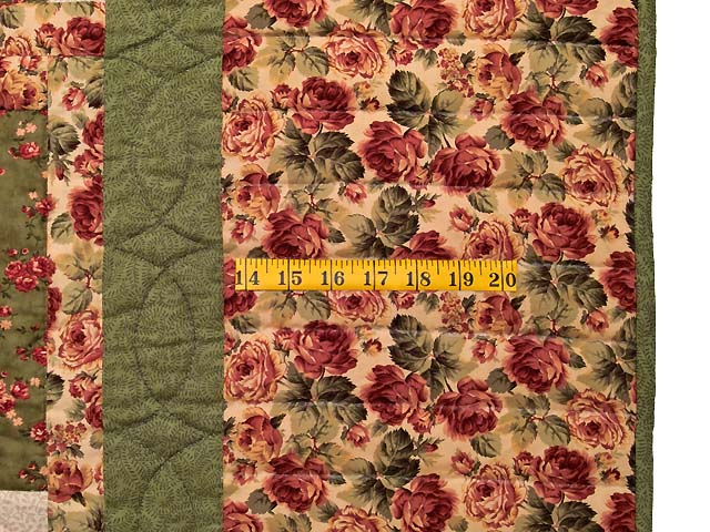 Rose Sage and Golden Tan Log Cabin Star Quilt Photo 6