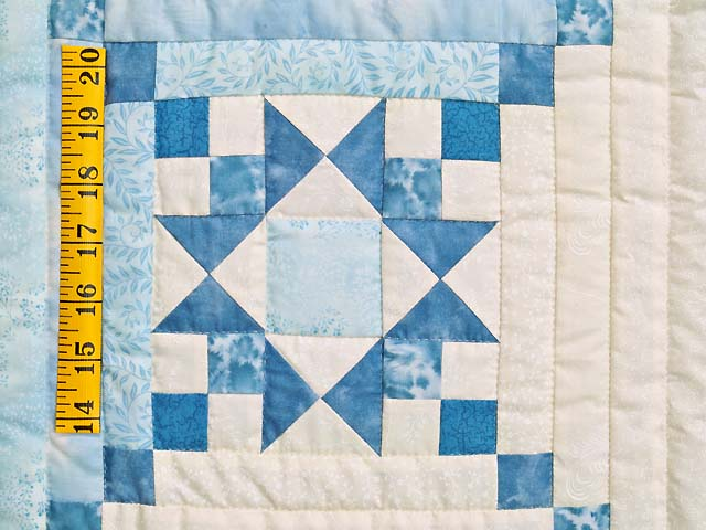 Aqua Blues and Ivory Stars in the Cabin Quilt Photo 5