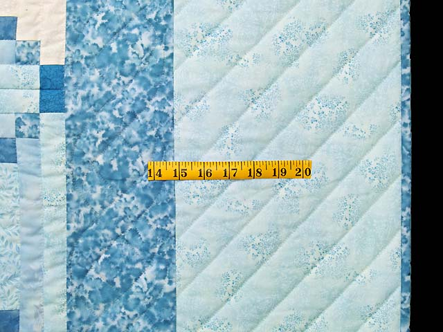 Aqua Blues and Ivory Stars in the Cabin Quilt Photo 7