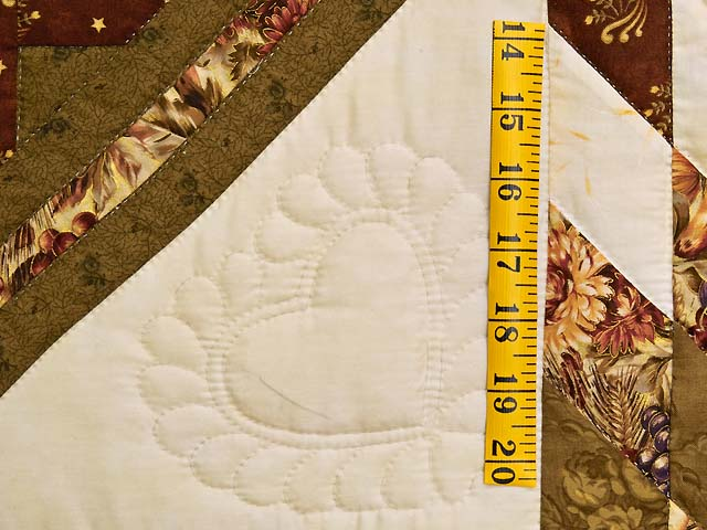 King Moss Burgundy and Cream Lone Star Log Cabin Quilt Photo 5