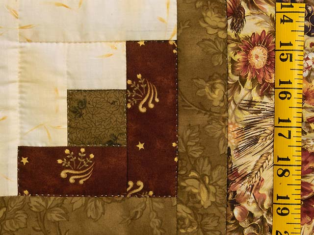 King Moss Burgundy and Cream Lone Star Log Cabin Quilt Photo 6