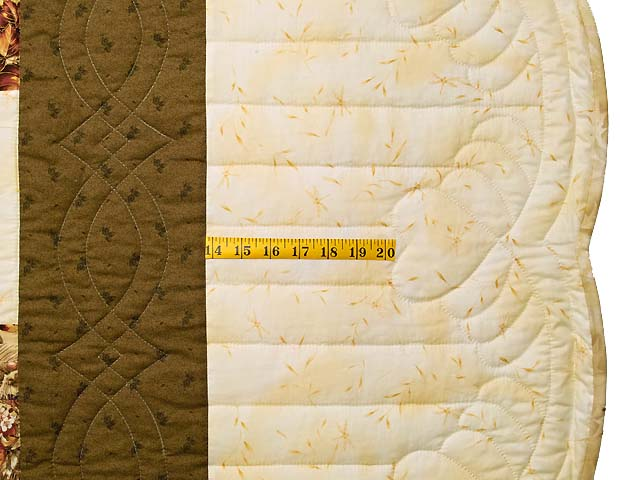 King Moss Burgundy and Cream Lone Star Log Cabin Quilt Photo 7