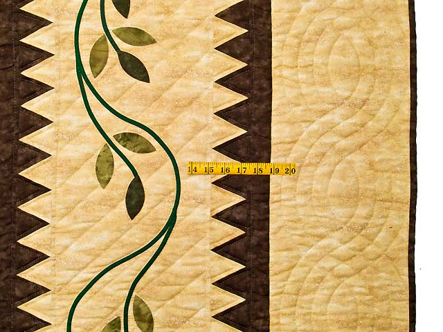 King Gold Brown and Burgundy Starburst Quilt Photo 6
