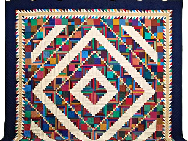 King Bright Home Sweet Home Log Cabin Quilt Photo 2