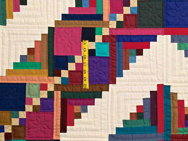 King Bright Home Sweet Home Log Cabin Quilt Photo 4