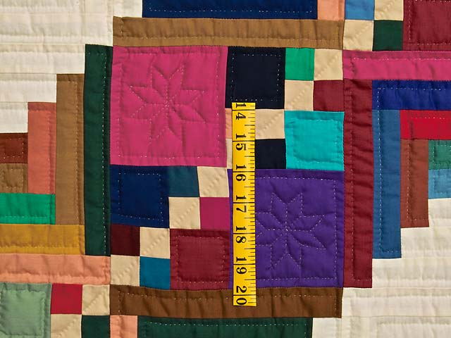 King Bright Home Sweet Home Log Cabin Quilt Photo 5