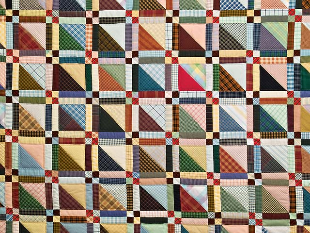King Plaid Homespun Squares Quilt Photo 3