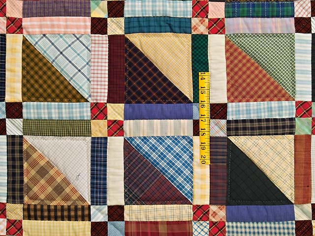 King Plaid Homespun Squares Quilt Photo 4