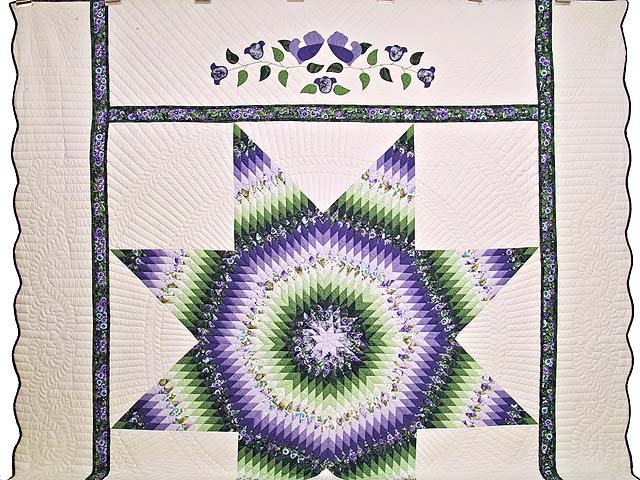 King Purple and Green Lone Star Country Bride Quilt Photo 2