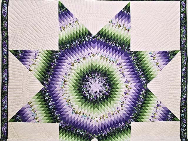 King Purple and Green Lone Star Country Bride Quilt Photo 3