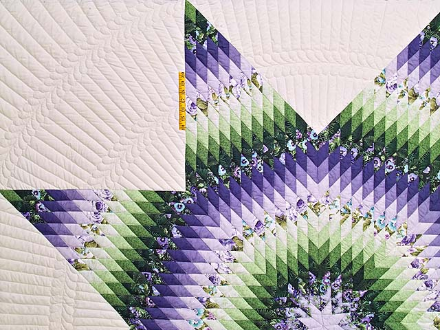 King Purple and Green Lone Star Country Bride Quilt Photo 4
