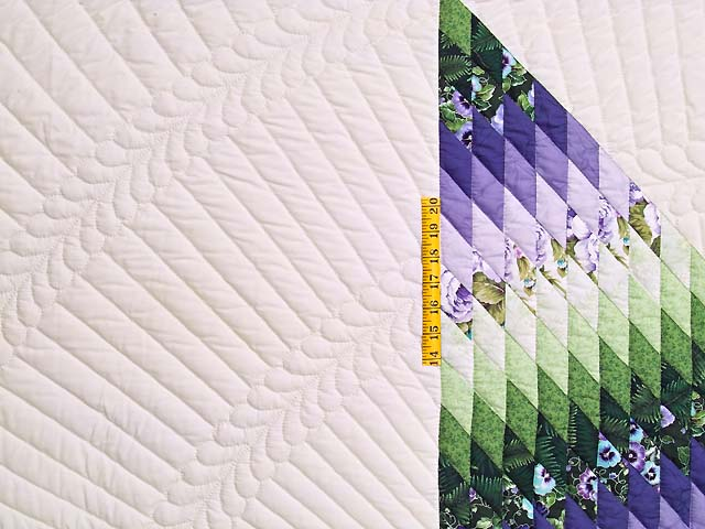 King Purple and Green Lone Star Country Bride Quilt Photo 5