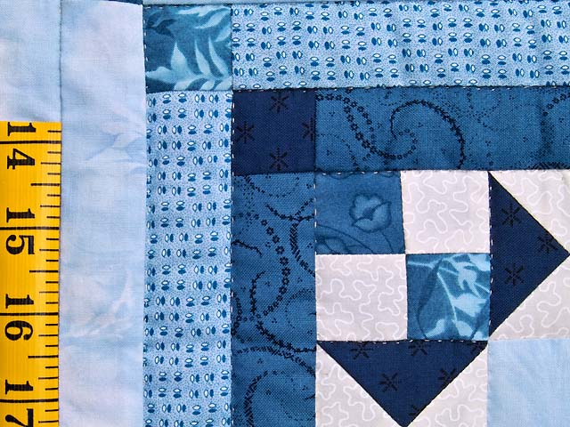Blue Navy and Ivory Stars in the Cabin Quilt Photo 6