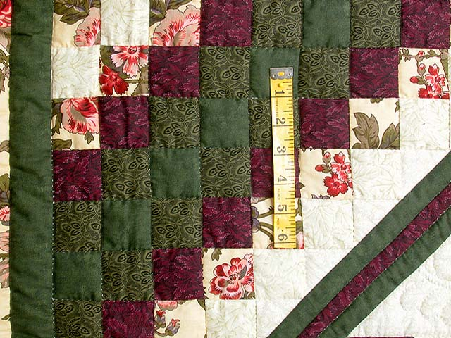 Green and Plum Trip Around the Star Quilt Photo 5