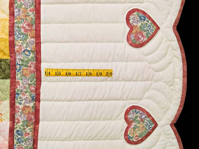 Pastels on Cream Sunshine Sweetheart Quilt Photo 7