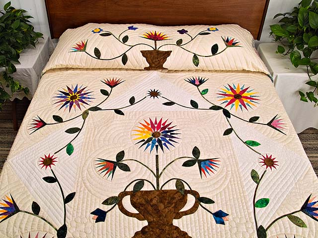 Extraordinary Compass Gardens Applique Quilt Photo 1