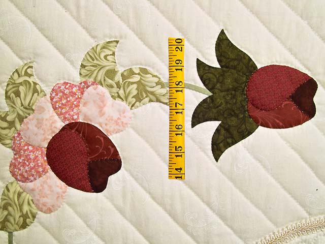 Burgundy Rose and Blue Lancaster Treasures Quilt Photo 5
