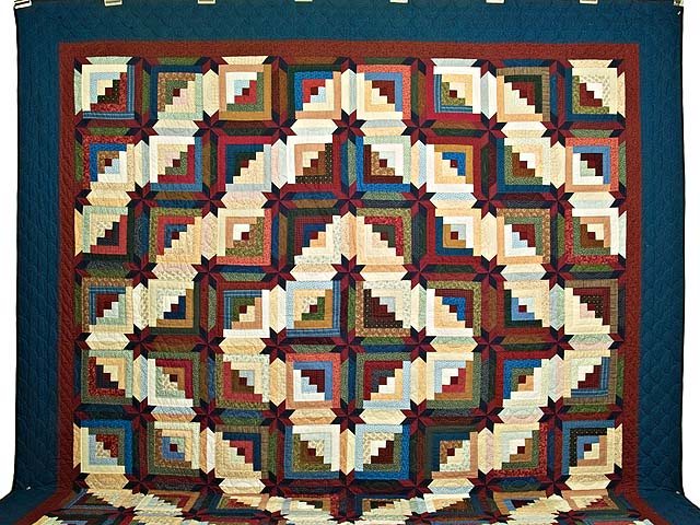 King Multicolor Colorado Log Cabin Quilt Photo 2