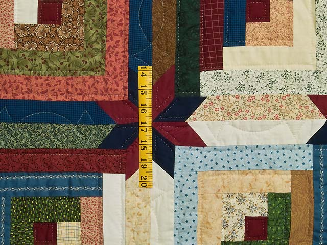 King Multicolor Colorado Log Cabin Quilt Photo 5
