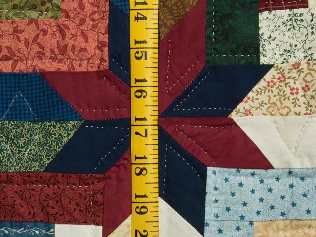 King Multicolor Colorado Log Cabin Quilt Photo 6