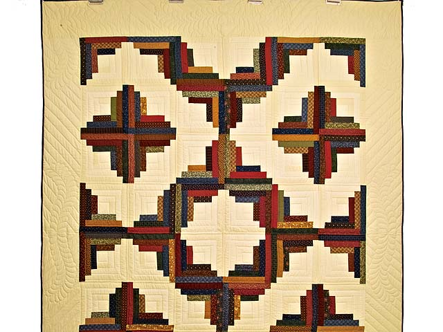 Twin Country Colors Log Cabin Quilt Photo 2