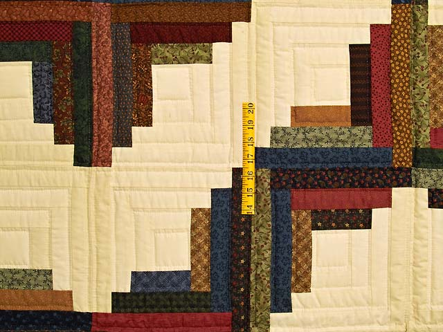 Twin Country Colors Log Cabin Quilt Photo 4