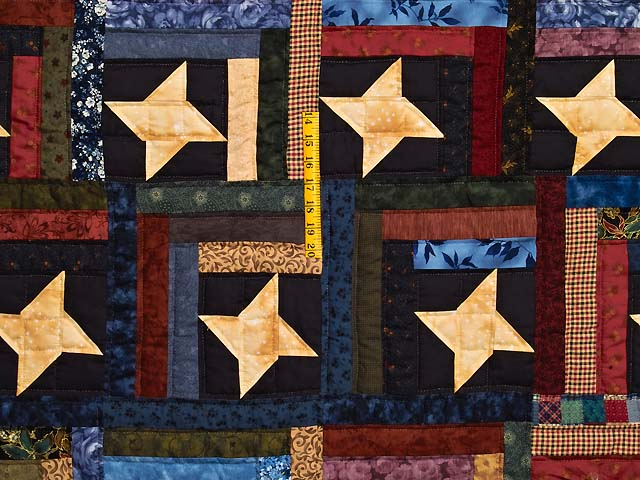 Dark Green Burgundy and Multi Midnight Sky Quilt Photo 4