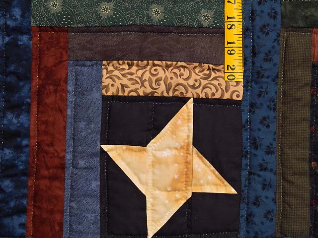 Dark Green Burgundy and Multi Midnight Sky Quilt Photo 5