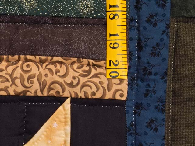 Dark Green Burgundy and Multi Midnight Sky Quilt Photo 6
