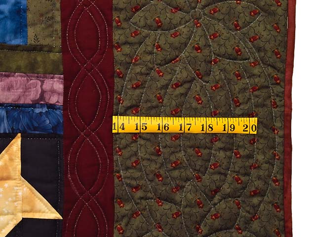 Dark Green Burgundy and Multi Midnight Sky Quilt Photo 7