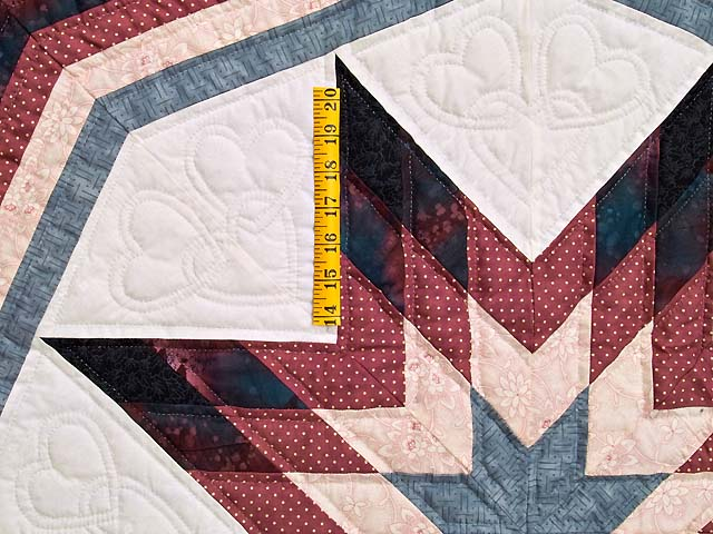 Rose Plum and Steel Blue Royal Star of Maryland Quilt Photo 5