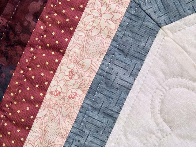 Rose Plum and Steel Blue Royal Star of Maryland Quilt Photo 6