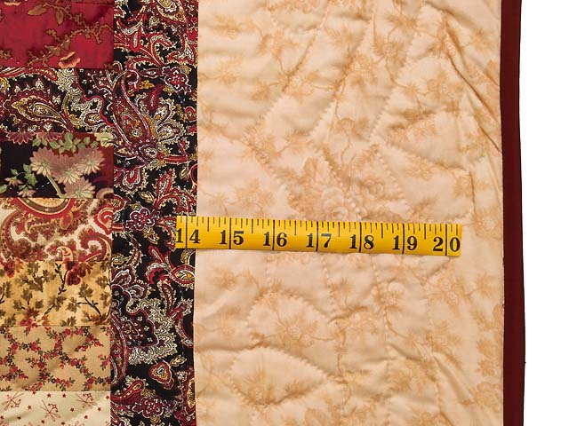 Burgundy and Golden Tan Bargello Quilt Photo 6