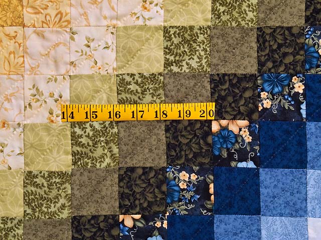 Blue and Golden Yellow Sunshine Sweetheart Quilt Photo 6