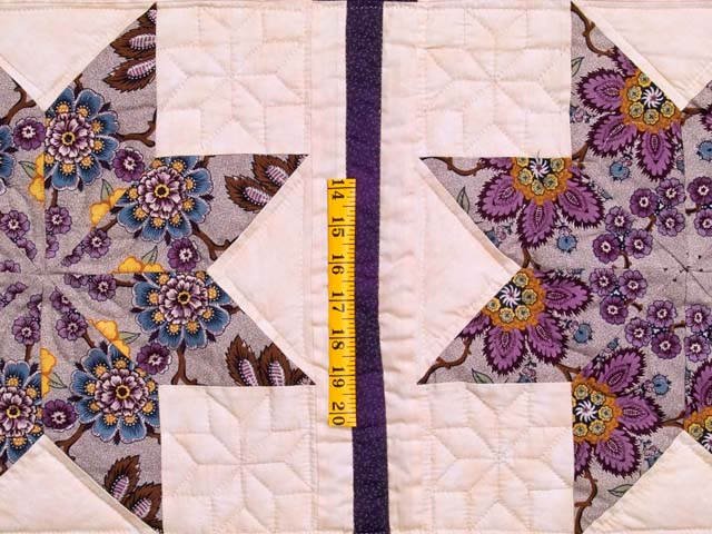 Mauve and Gold Stack and Whack Stars Quilt Photo 5