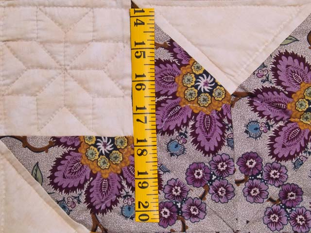 Mauve and Gold Stack and Whack Stars Quilt Photo 6