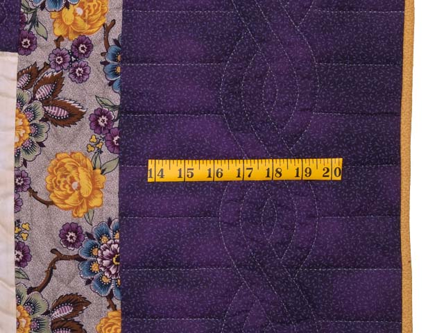 Mauve and Gold Stack and Whack Stars Quilt Photo 7