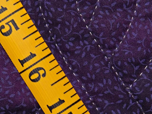 Mauve and Gold Stack and Whack Stars Quilt Photo 8