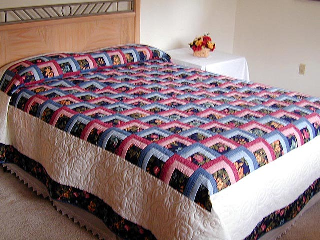 Garden Shadow Quilt -- magnificent smartly made Amish Quilts from ... : sunshine and shadows quilt pattern - Adamdwight.com