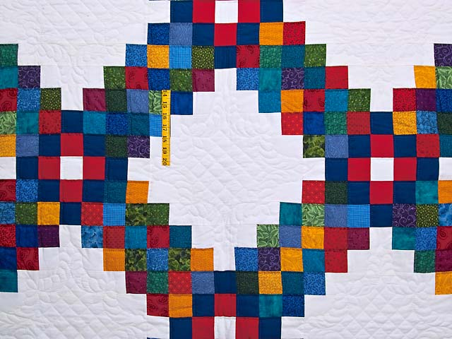 King Bright Multicolor Triple Irish Chain Quilt Photo 4