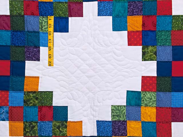 King Bright Multicolor Triple Irish Chain Quilt Photo 5