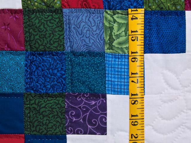 King Bright Multicolor Triple Irish Chain Quilt Photo 6