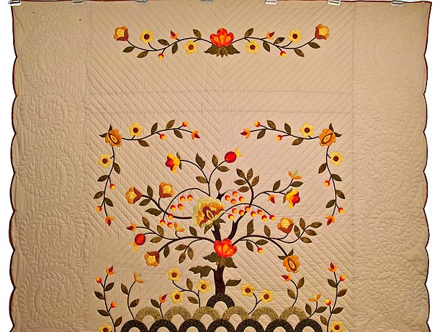 Sunset Tree of Life Appliqué Quilt Photo 2